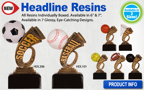 Headline Resin Trophies