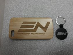 Bamboo iPhone case and key chain