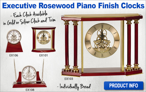 Rosewood Piano Finish Clocks