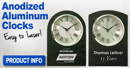 Anodized Aluminum Clocks